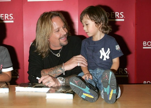 Singer Vince Neil promotes 'Tattoos & Tequila' at Borders Columbus Circle on September 23, 2010 in New York City.