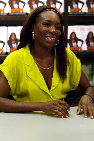 Venus Williams greets fans and signs copies of her book 'Come to Win' at Books and Books on September 15, 2010 in Miami Beach, Florida.