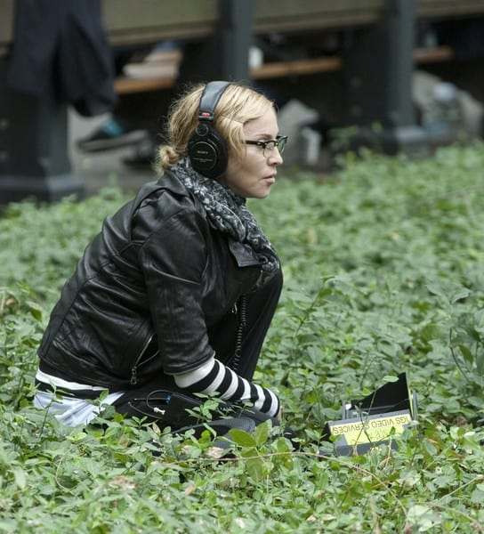 Madonna filming on location for 'W.E.' in Central Park in New York City on September 17, 2010.