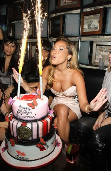 Adrienne Bailon attends her 27th birthday party at SL on October 27, 2010 in New York City.