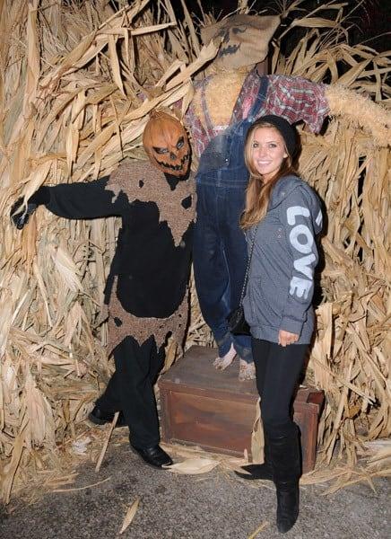 Actress Audrina Patridge attends Knott's Scary Farm on October 15, 2010 in Buena Park, California.