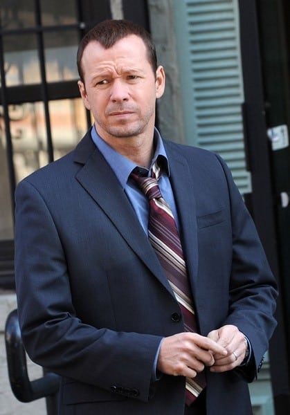 Donnie Wahlberg seen on location for 'Blue Bloods' on the streets of Manhattan on October 7, 2010 in New York City.