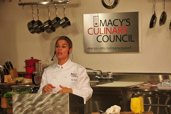 Chef Cat Cora promotes 'Classic's With a Twist' at Macy's Herald Square on October 5, 2010 in New York City.