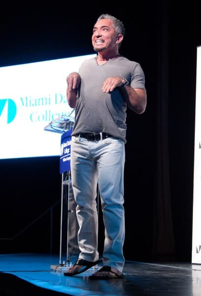 Cesar Millan discusses and signs 'Cesar's Rules: Your Way to Train a Well-Behaved Dog' at an event presented by Books Books at Miami Dade College on October 8, 2010 in Miami, Florida.