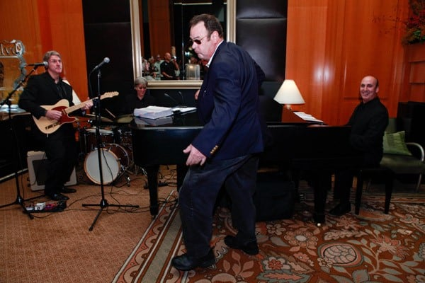 Dan Aykroyd performs at Dan Aykroyd's Crystal Head Vodka Event At The Blvd at the Beverly Wilshire Four Seasons Hotel on September 30, 2010 in Beverly Hills, California.