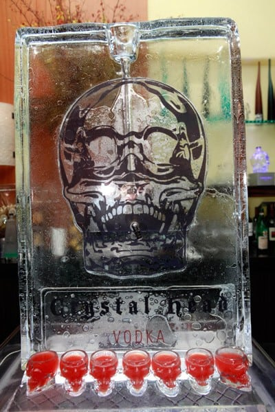 A Display at Dan Aykroyd's Crystal Head Vodka Event At The Blvd at the Beverly Wilshire Four Seasons Hotel on September 30, 2010 in Beverly Hills, California.