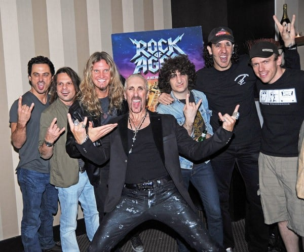 Dee Snider and the band from 'Rock of Ages' attend the after party celebrating Dee Snider's Broadway debut in 'Rock of Ages' at the The Glass House Tavern on October 11, 2010 in New York City.