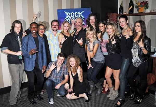 Dee Snider and the cast from 'Rock of Ages' attend the after party celebrating Dee Snider's Broadway debut in 'Rock of Ages' at the The Glass House Tavern on October 11, 2010 in New York City.
