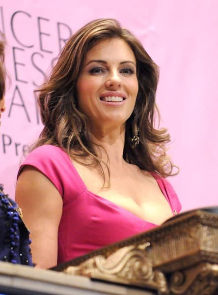 Actress Elizabeth Hurley rings the closing bell at the New York Stock Exchange on October 1, 2010 in New York City.