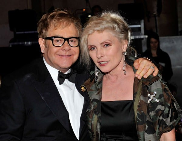 Sir Elton John and Debbie Harry attend the 9th Annual Elton John AIDS Foundation's 'An Enduring Vision' benefit at Cipriani, Wall Street on October 18, 2010 in New York City.