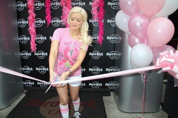 Holly Madison Kicks Off 'Pinktober' at The Hard Rock Hotel in Las Vegas