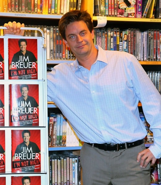 Comedian/Author/Actor Jim Breuer promotes 'I'm Not High...' at Borders Wall Street on October 6, 2010 in New York City.