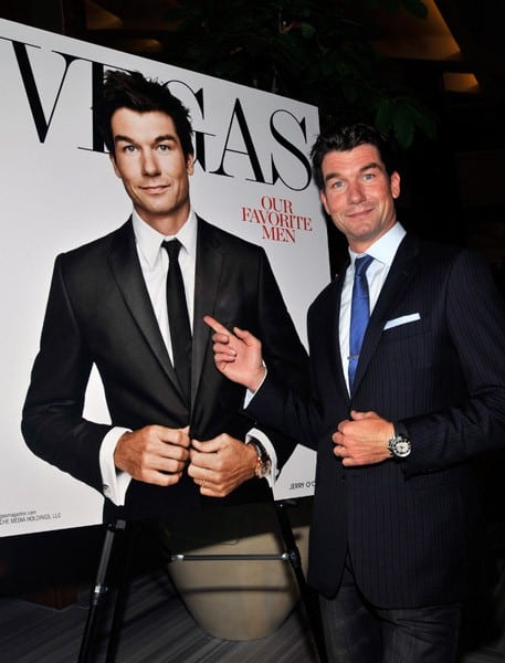 Actor Jerry O'Connell arrives at 'Vegas' Magazine's men's issue party at the Gold Lounge at the Aria Resort & Casino at CityCenter on October 2, 2010 in Las Vegas, Nevada.