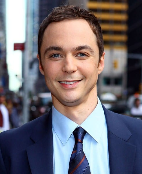Jim Parsons visits 'Late Show With David Letterman' at the Ed Sullivan Theater on October 11, 2010 in New York City.