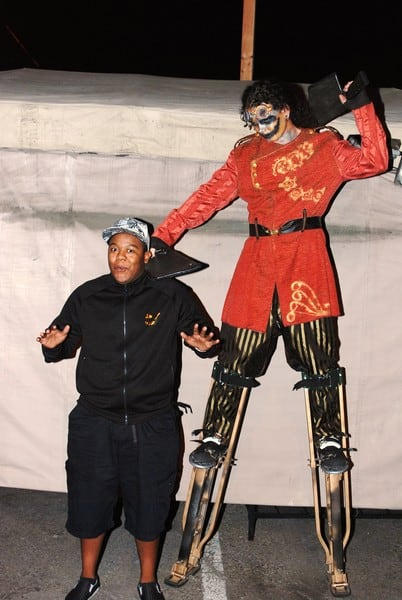 Kyle Massey at Knot's Scary Farm in Buena Park, California on October 22, 2010.
