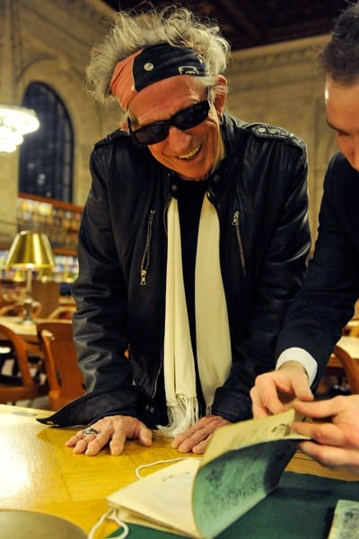 Keith Richards promotes his new book 'Life' at The New York Public Library on October 29, 2010 in New York City.