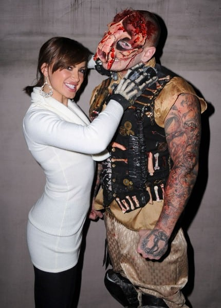 TV personality/dancer Karina Smirnoff attends Knott's Scary Farm Halloween Haunt held at Knott's Berry Farm on October 28, 2010 in Buena Park, California.