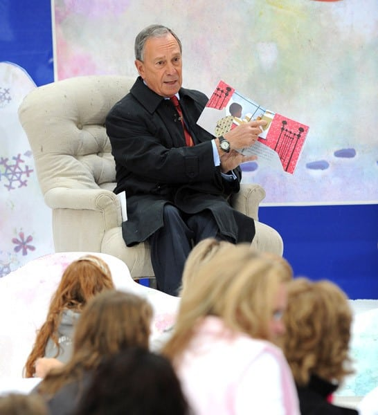 New York City Mayor Michael Bloomberg attends the 5th annual Jumpstart Read for the Record Day at Rockefeller Center on October 7, 2010 in New York City.