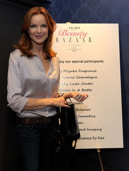 Actress Marcia Cross hosts the P.S. Arts Beauty Bazaar at Lasky Clinic on September 30, 2010 in Los Angeles, California.
