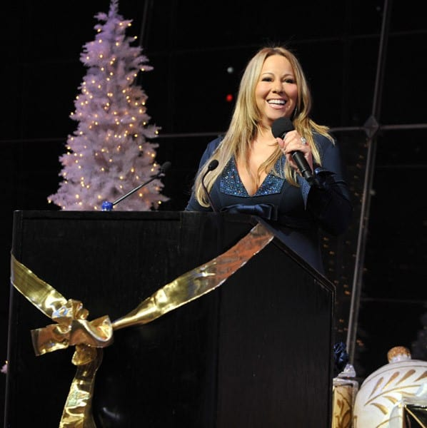 Mariah Carey at the listening party for Mariah Carey's New Holiday Album 'Merry Christmas II You' at Allen Room at Lincoln Center on October 20, 2010 in New York, New York.