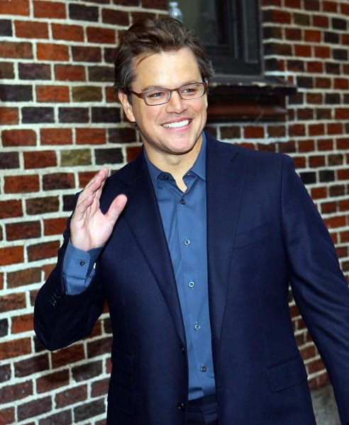 Actor Matt Damon visits 'Late Show With David Letterman' at the Ed Sullivan Theater on October 12, 2010 in New York City.
