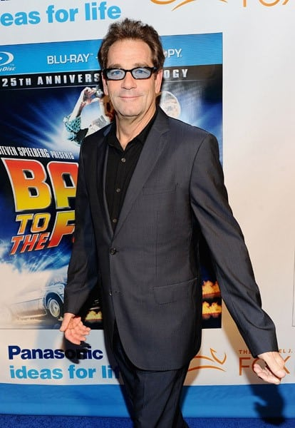 Huey Lewis attends the 'Back To The Future' 25th anniversary Trilogy Blu-Ray release celebration at Gustavino's on October 25, 2010 in New York City.