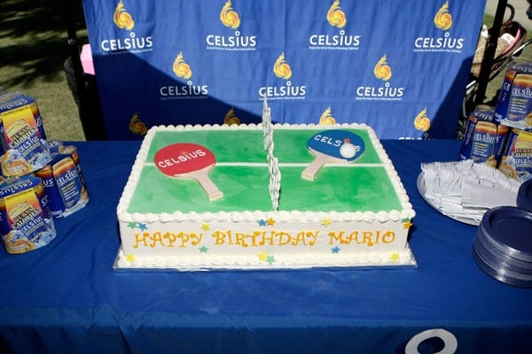 A view of Mario Lopez's birthday cake at The Americana at Brand on October 9, 2010 in Glendale, California.