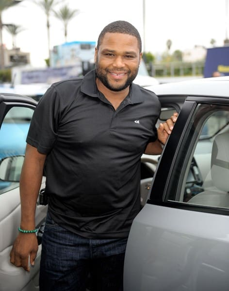 Actor Anthony Anderson attends the Nissan LEAF Drive Electric Tour Sneak Preview at Westfield Century City on October 21, 2010 in Los Angeles, California.