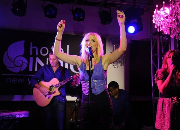 Singer Natasha Bedingfield performs during the celebration of Hotel Indigo 'Locals Know Best' winners at Hotel Indigo Chelsea on September 30, 2010 in New York City.