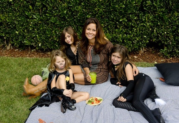 Brooke Burke and Daughters Attend the Halloween Carnival Presented By Pottery Barn Kids To Benefit Operation Smile at A Private Residence on October 23, 2010 in Los Angeles, California.