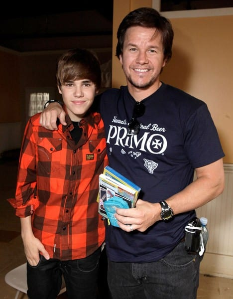 Mark Wahlberg and Justin Bieber attend Variety's 4th Annual Power of Youth event at Paramount Studios on October 24, 2010 in Hollywood, California.