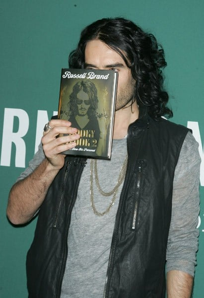 Russell Brand promotes copies of his new book 'Booky Wook 2' at Barnes & Noble Union Square on October 13, 2010 in New York City.