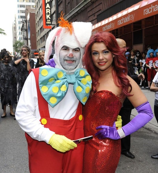 Rachael Ray (and hubby John Cusimano) attend the taping of the 'Rachael Ray Show' Halloween episode in front of the Rachael Ray Show Studio on October 6, 2010 in New York City.