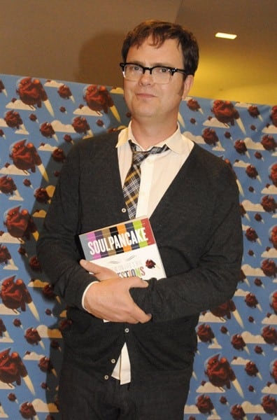 Rainn Wilson Attends His 'Soul Pancake' Book Party at WME Screening Room on October 29, 2010 in Los Angeles, California.