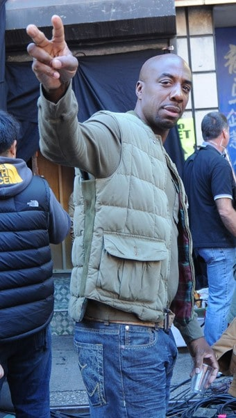 J.B. Smoove filming on location for 'The Sitter' on the streets of Manhattan on October 21, 2010 in New York City.