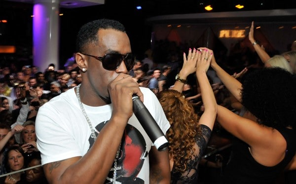 Music artist Sean 'Diddy' Combs appears at the Pure Nightclub at Caesars Palace early October 24, 2010 in Las Vegas, Nevada.