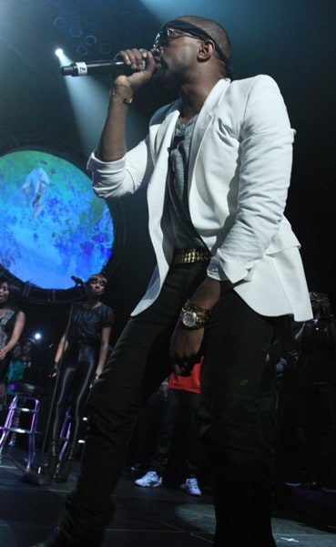Kanye West performs at the Hot 97 Thanksgiving Thank you Concert at the Hammerstein Ballroom on November 25, 2010 in New York City.