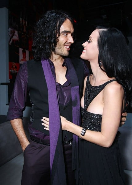 Russell Brand and Katy Perry at The American Music Awards after party hosted by Rolling Stone held at The Rolling Stone Restaurant And Lounge on November 21, 2010 in Los Angeles, California.