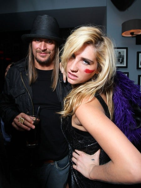 Kid Rock and Kesha at The American Music Awards after party hosted by Rolling Stone held at The Rolling Stone Restaurant And Lounge on November 21, 2010 in Los Angeles, California.