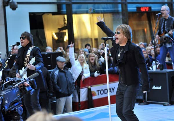 Bon Jovi performs on NBC's 'Today' at Rockefeller Center on November 12, 2010 in New York City.
