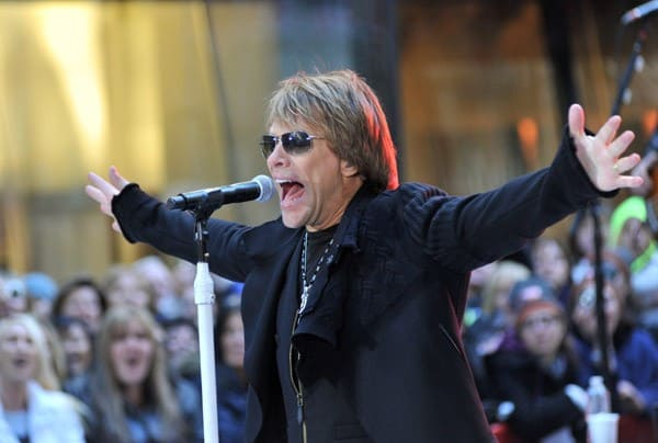 Singer Jon Bon Jovi performs on NBC's 'Today' at Rockefeller Center on November 12, 2010 in New York City.