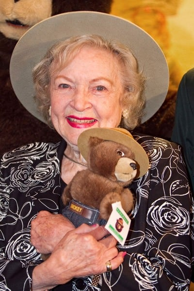 Actress Betty White is made an Honorary Forest Ranger at the John F. Kennedy Center for the Performing Arts on November 9, 2010 in Washington, DC.