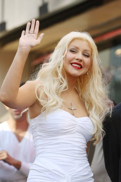Christina Aguilera is honored with a Star on The Hollywood Walk of Fame on November 15, 2010 in Hollywood, California.