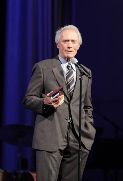 Clint Eastwood accepts his award at International Film Festival partnering with Grey Goose honoring Clint Eastwood with the Tolerance Award at Museum Of Tolerance on November 14, 2010 in Los Angeles, California.