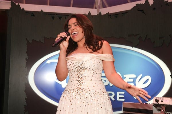 Jordin Sparks performs at the Grand Opening of The Disney Store, Times Square on November 9, 2010 in New York City.