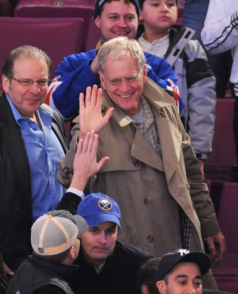 David Letterman attends the Buffalo Sabres vs New York Rangers game at Madison Square Garden on November 11, 2010 in New York City.