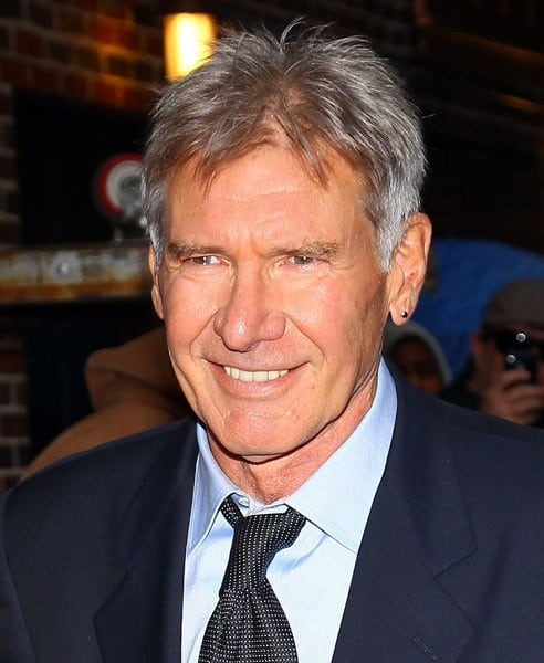 Actor Harrison Ford visits 'Late Show With David Letterman' at the Ed Sullivan Theater on November 8, 2010 in New York City.