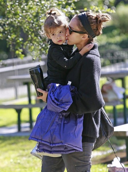 Jessica Alba and Honor Warren are seen on November 21, 2010 in Los Angeles, California.
