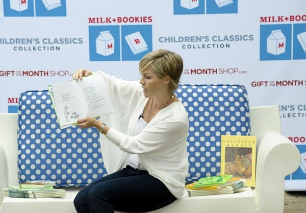 Jennie Garth Reads At The Milk + Bookies Event Sponsored By The Gift Of The Month Shop at a private residence on November 7, 2010 in Los Angeles, California.