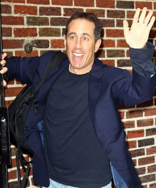 Actor Jerry Seinfeld visits 'Late Show With David Letterman' at the Ed Sullivan Theater on November 23, 2010 in New York City.